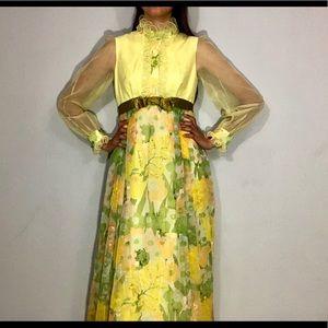 🌼NEW🌼 1960s floral maxi dress